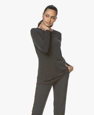 Woman By Earn Hedy Modal Blend Long Sleeve - Black