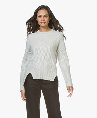 Zadig & Voltaire Mark Deluxe Cashmere Sweater- Chalk
