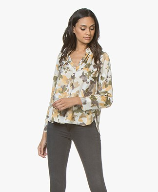 Zadig & Voltaire Tink Camou Satin Blouse - Beige