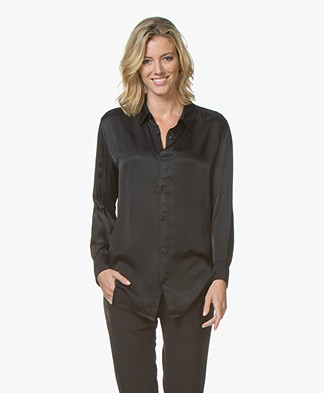 BRAEZ Shaq Viscose Satin Blouse - Black