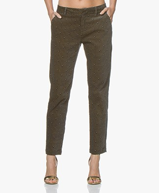 MKT Studio Program Velvet Pants with Print - Black