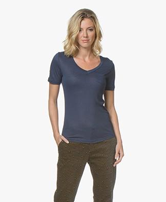 Denham Pilot Slub Jersey T-shirt - Midnight Blue