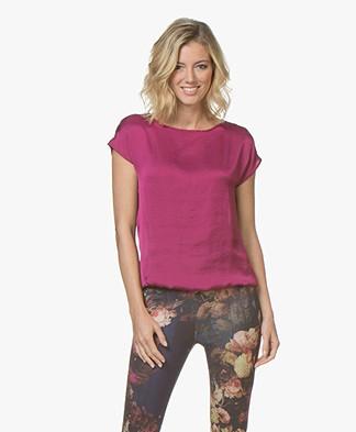 Kyra & Ko Gigi Satin T-shirt - Cyclame