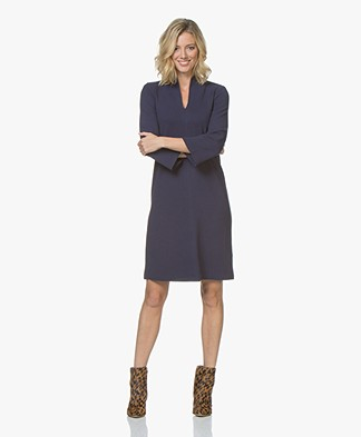 Kyra & Ko Jolein Twill Jersey A-line Dress - Prune