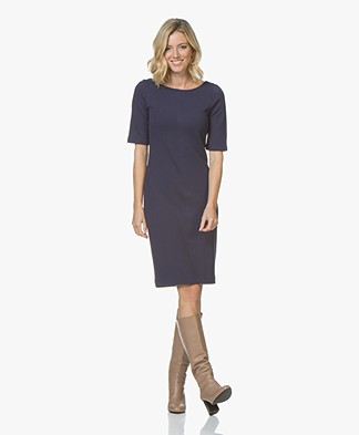 Kyra & Ko Suza Twill Jersey Dress - Prune