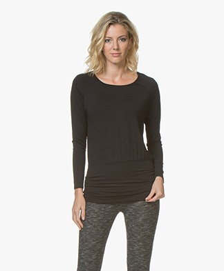 no man's land Viscose Jersey Long Sleeve - Core Black