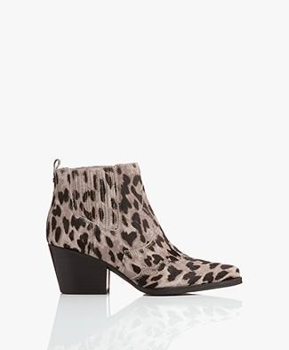 Sam Edelman Winona Western Ankle Boots - Grey Multi
