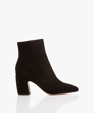 Sam Edelman Hilty Kid Suede Ankle Boots - Black