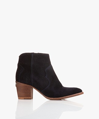 Zadig & Voltaire Molly Suede Ankle Boots - Marine