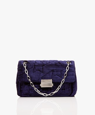 Zadig & Voltaire Ziggy Velvet Shoulder Bag - Marine