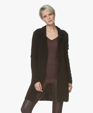 Belluna Japan Mid-length Mohair Cardigan - Black