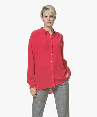 BOSS Ecluni Zijden Blouse - Bright Red