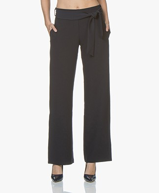 BY-BAR Marit High Waist Pants - Navy
