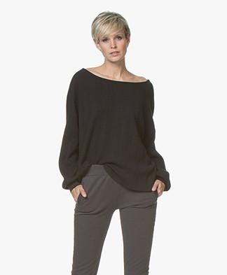 LEÏ 1984 Leopold Fine Knitted Cotton Sweater - Black