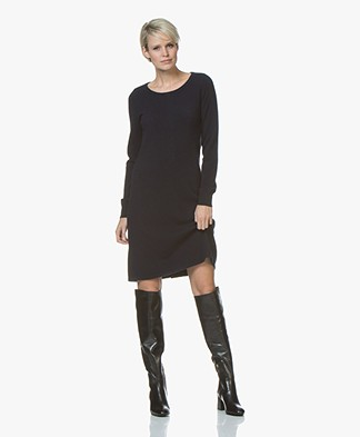 Repeat Fine Knit Dress from Pure Cashmere - Navy