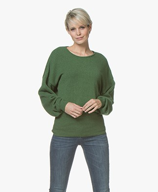 Sibin/Linnebjerg Agnes Trui met Cashmere - Clear Green