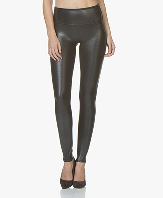 SPANX® Faux Leather Pebbled Leggings - Pebble Grey