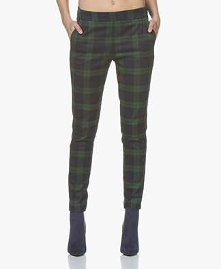 Woman By Earn Jacky Tartan Pantalon - Groen