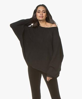 American Vintage Wopy Oversized Rib Sweater - Black