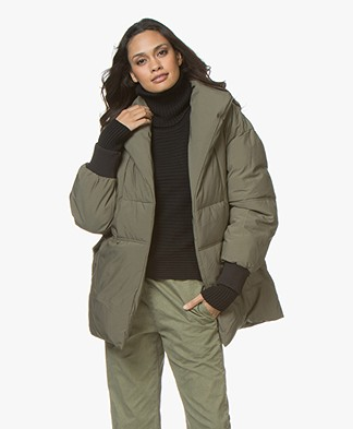 Ba&sh Dayma Down Coat - Khaki