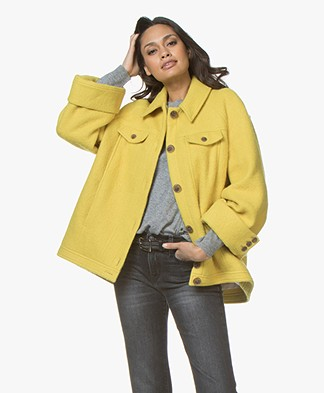 ba&sh Wendy Oversized Wolmix Coat - Yellow
