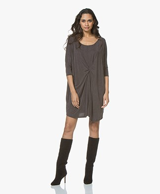 Friday's Project Cupro Jersey Mini Dress - Brown