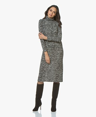 Friday's Project Mouline Midi Turtleneck Dress - Grey Melange