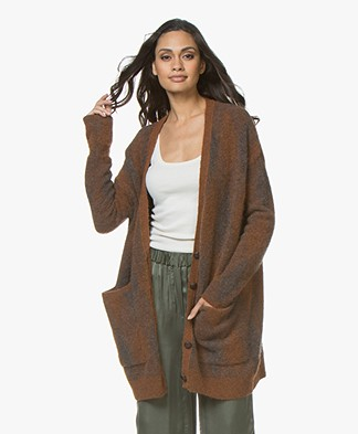 American Vintage Wixtonchurch Mid-length Cardigan - Brown Melange