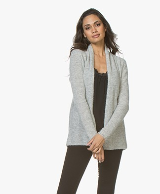 Belluna Bibi Open Alpaca Blend Cardigan - Light Ash