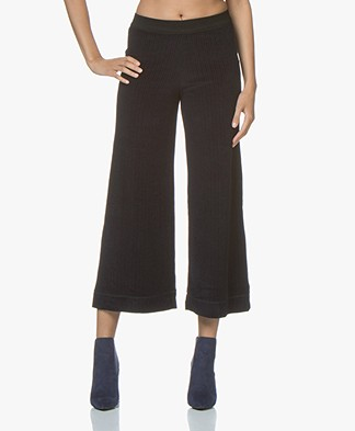 By Malene Birger Sharion Wolmix Corduroy Broek - Midnight Heaven