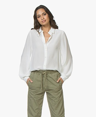 Drykorn Diaz Silk Blouse - Off-white
