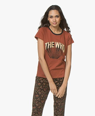 MKT Studio Terci Who Print T-shirt - Rust