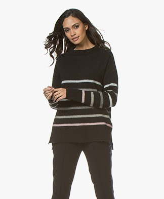 Plein Publique Le Triomphe Striped Sweater - Black
