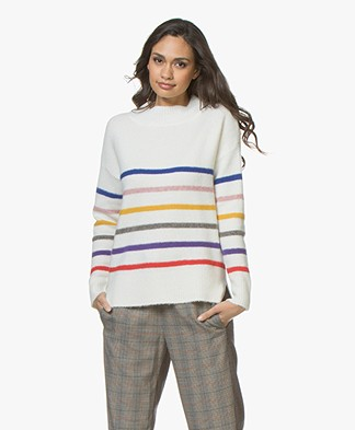 Plein Publique Le Triomphe Striped Sweater - Off-white