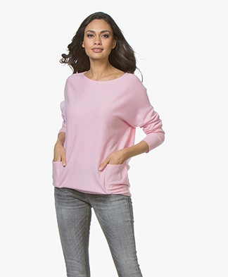 Repeat Cashmere Boat Neck Sweater - Rose