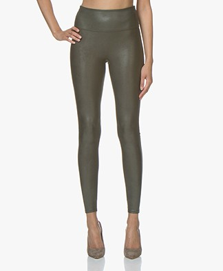 SPANX®  Ready-to-Wow! Faux Leather Leggings - Deep Olive