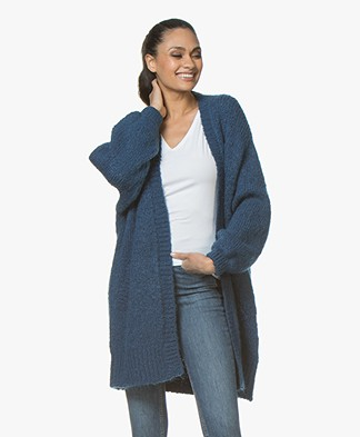 BY-BAR Mirjam Oversized Open Cardigan - Oil Blue