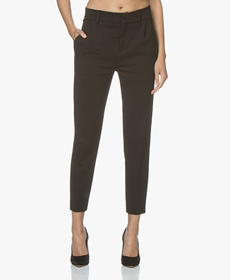 Drykorn Find Tapered Jersey Pants - Black