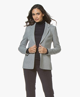 Drykorn Golders Brushed Jersey Blazer - Grey