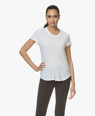 James Perse Sheer Slub Jersey T-shirt - Wit