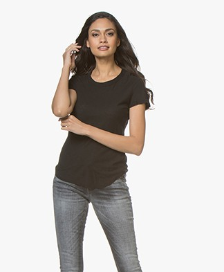 James Perse Sheer Slub Jersey T-shirt - Zwart