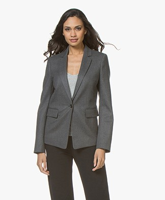 Joseph Prisca Flannel Stretch Blazer - Charcoal