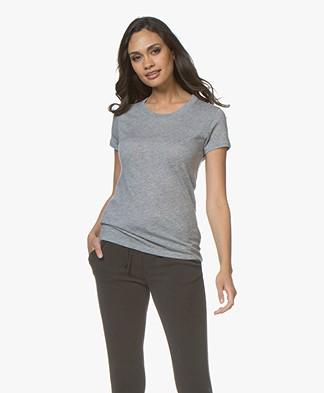 Majestic Emma Cashmere T-shirt - Grey Melange