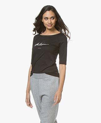 Plein Publique Je T'aime T-shirt - Zwart