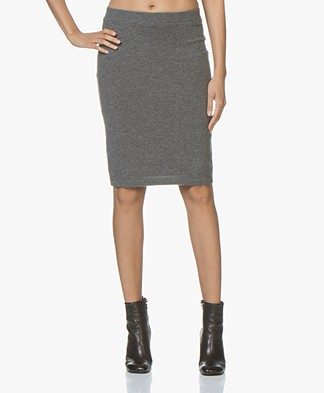 Repeat Cashmere Knitted Skirt - Medium Grey