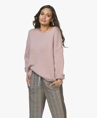 Sibin/Linnebjerg Nova Alpaca Blend Oversized Sweater - Rose
