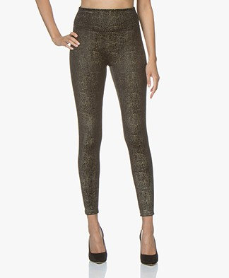 SPANX® Velvet Shine Leggings - Black/Gold