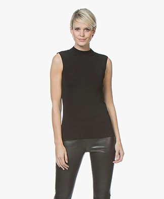 BOSS Fontaine Mock Neck Top - Black