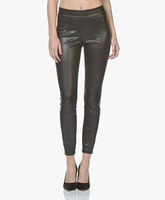 BOSS Sawaisty Faux Leather Slim-fit Pants - Black