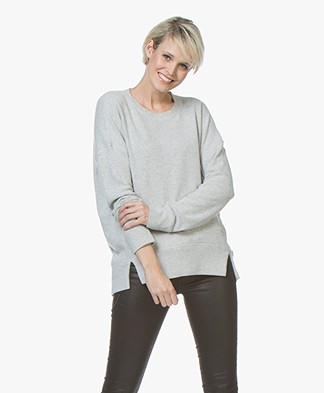 Denham Captain Fleece Sweater - Light Grey Heather